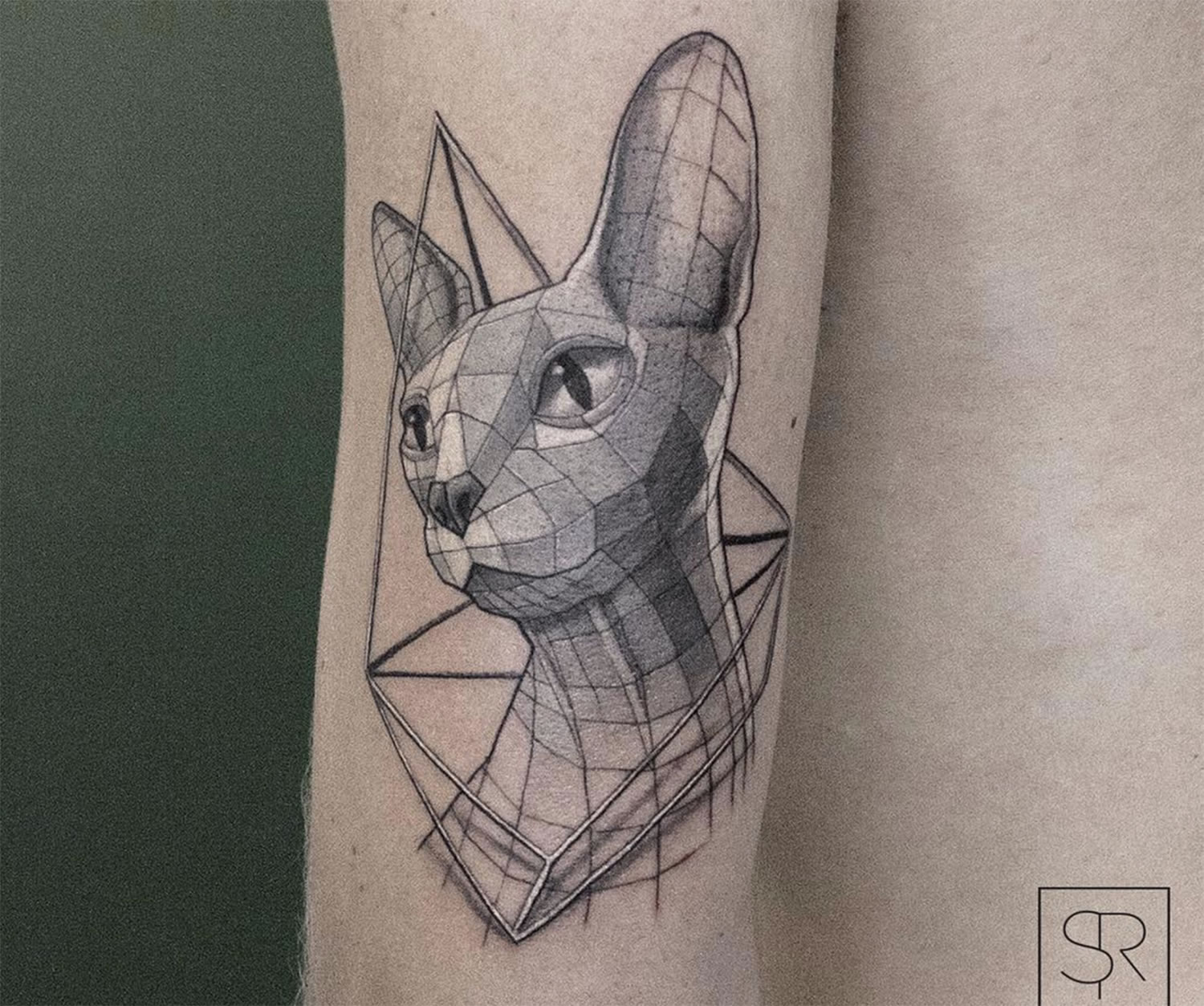 sphynx cat tattoo by Sven Rayen