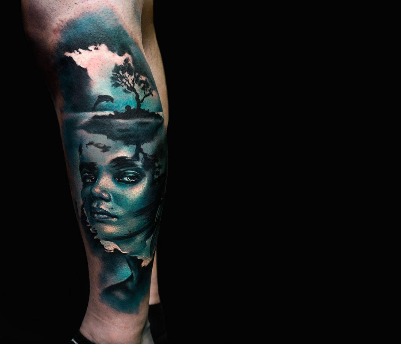 charly huurman double exposure tattoo