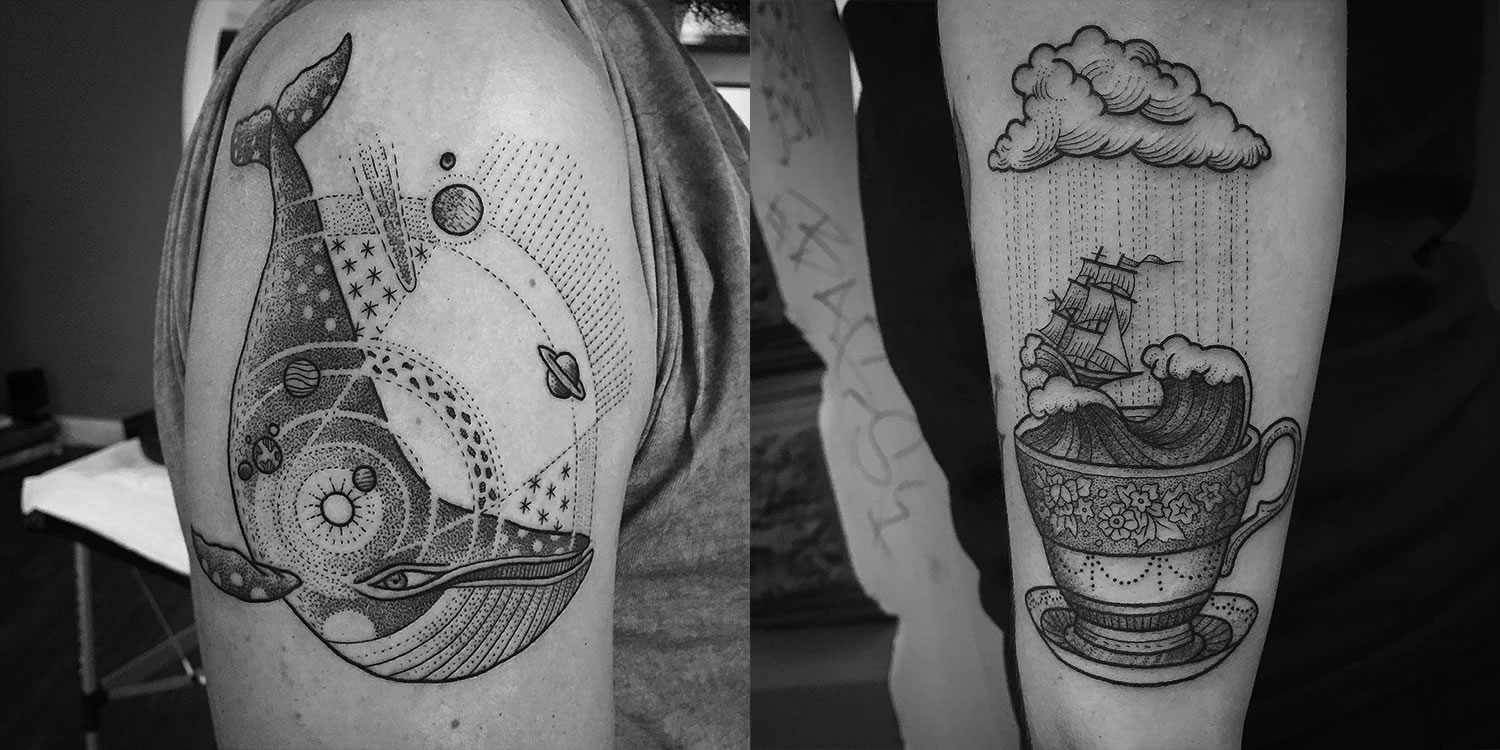 illustrative tattoos by Susanne König
