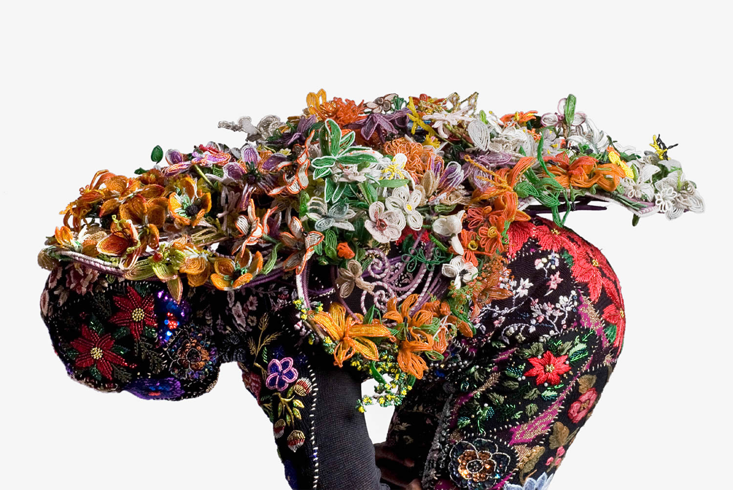 soundsuit, flowery suit by Nick Cave