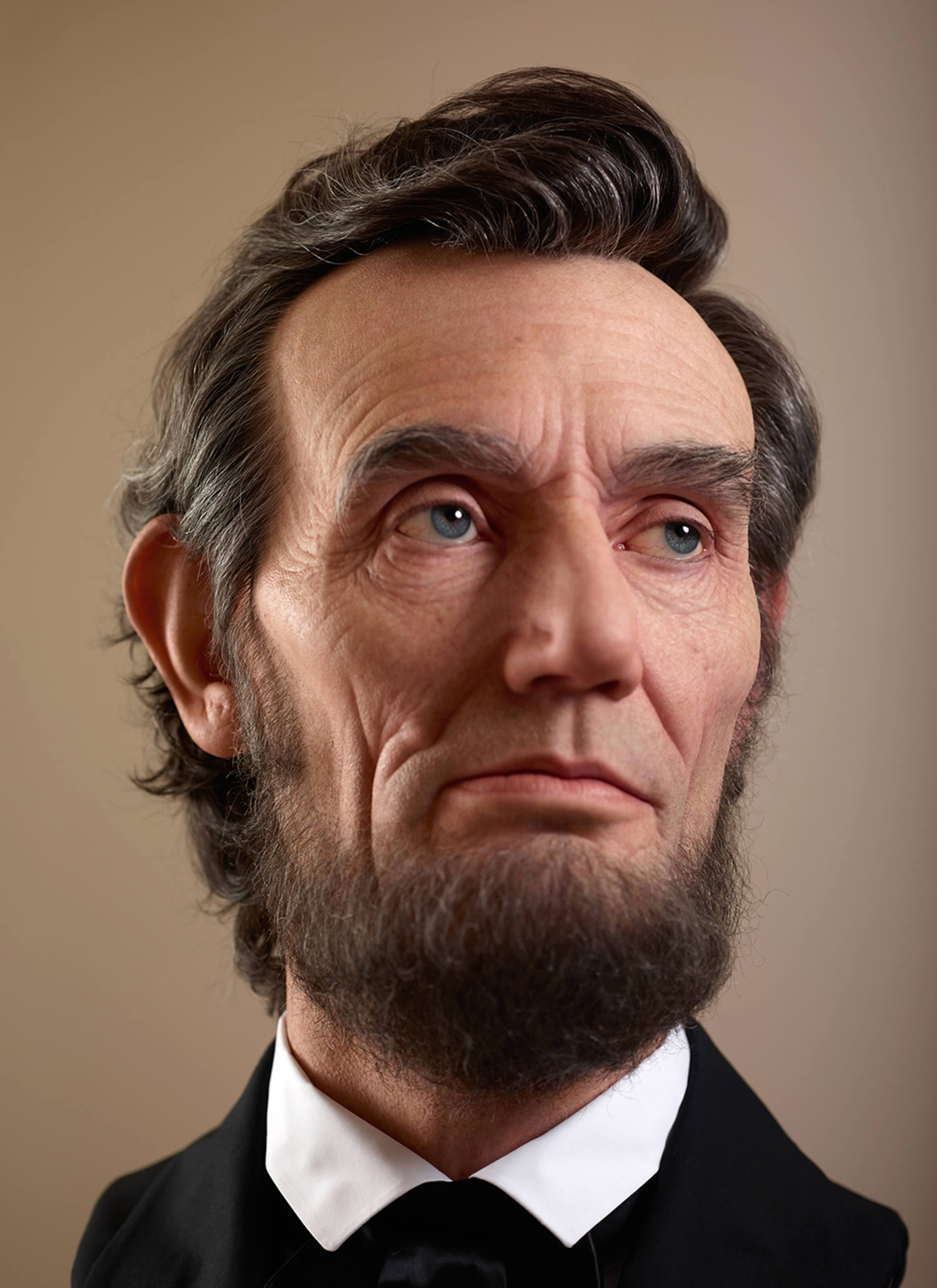 abraham lincoln hyperrealistic sculpture