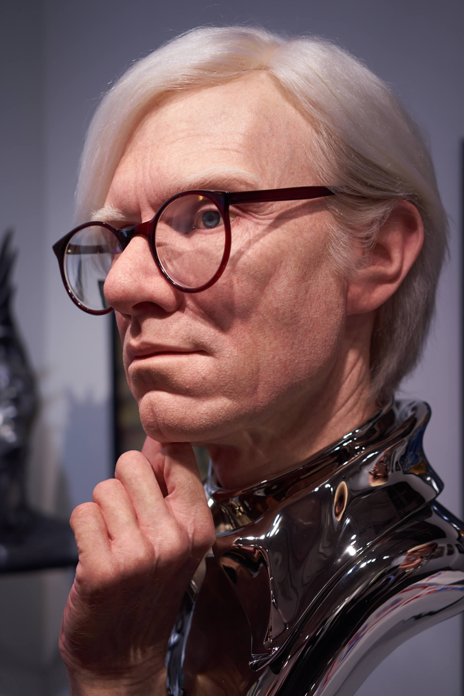 andy warhol, realistic sculpture