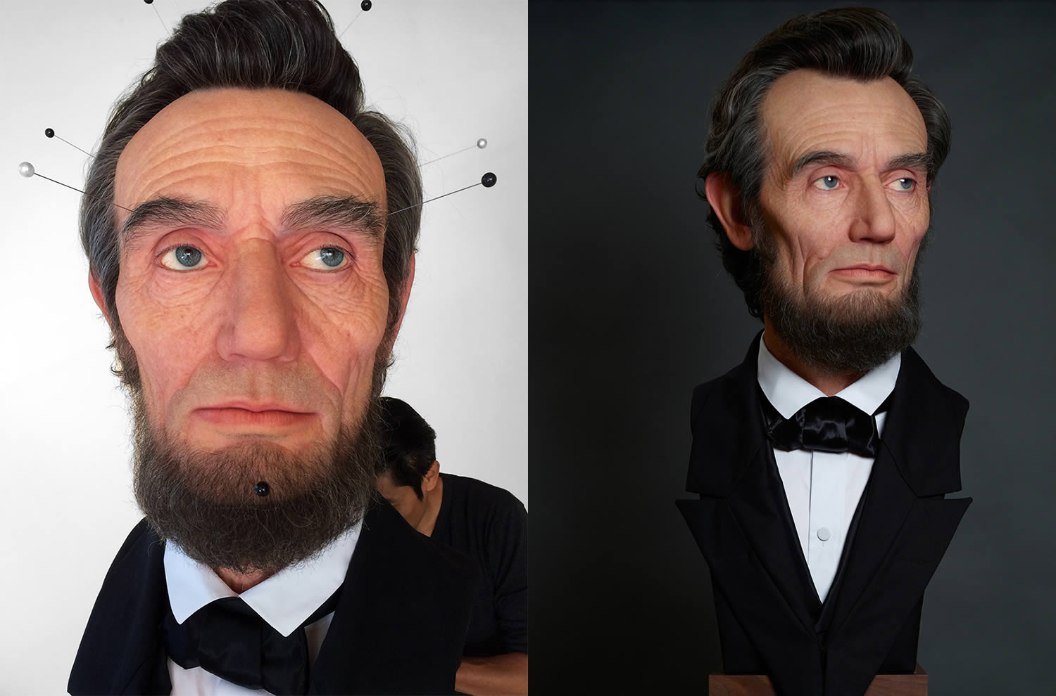 abraham lincoln, artist working on sculpture