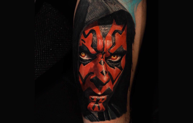 darth maul tattoo by ALAN RAMIREZ