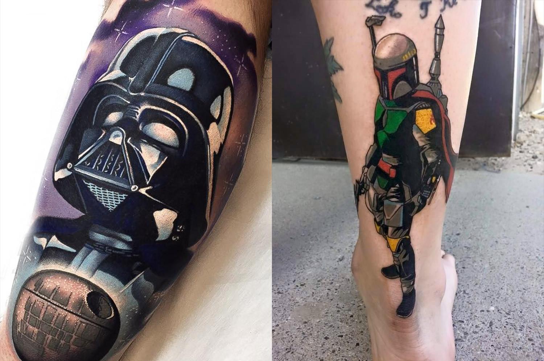 darth vader tattoo. boba fett by Cody Meyer