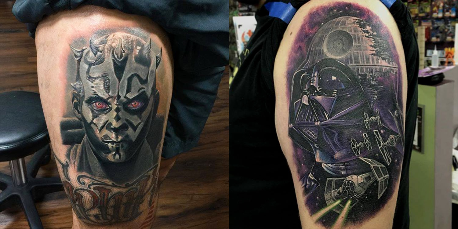 "4d6881c0c5 16 Amazing Star Wars Tattoos—Including one from ""The Force Awakens ..."