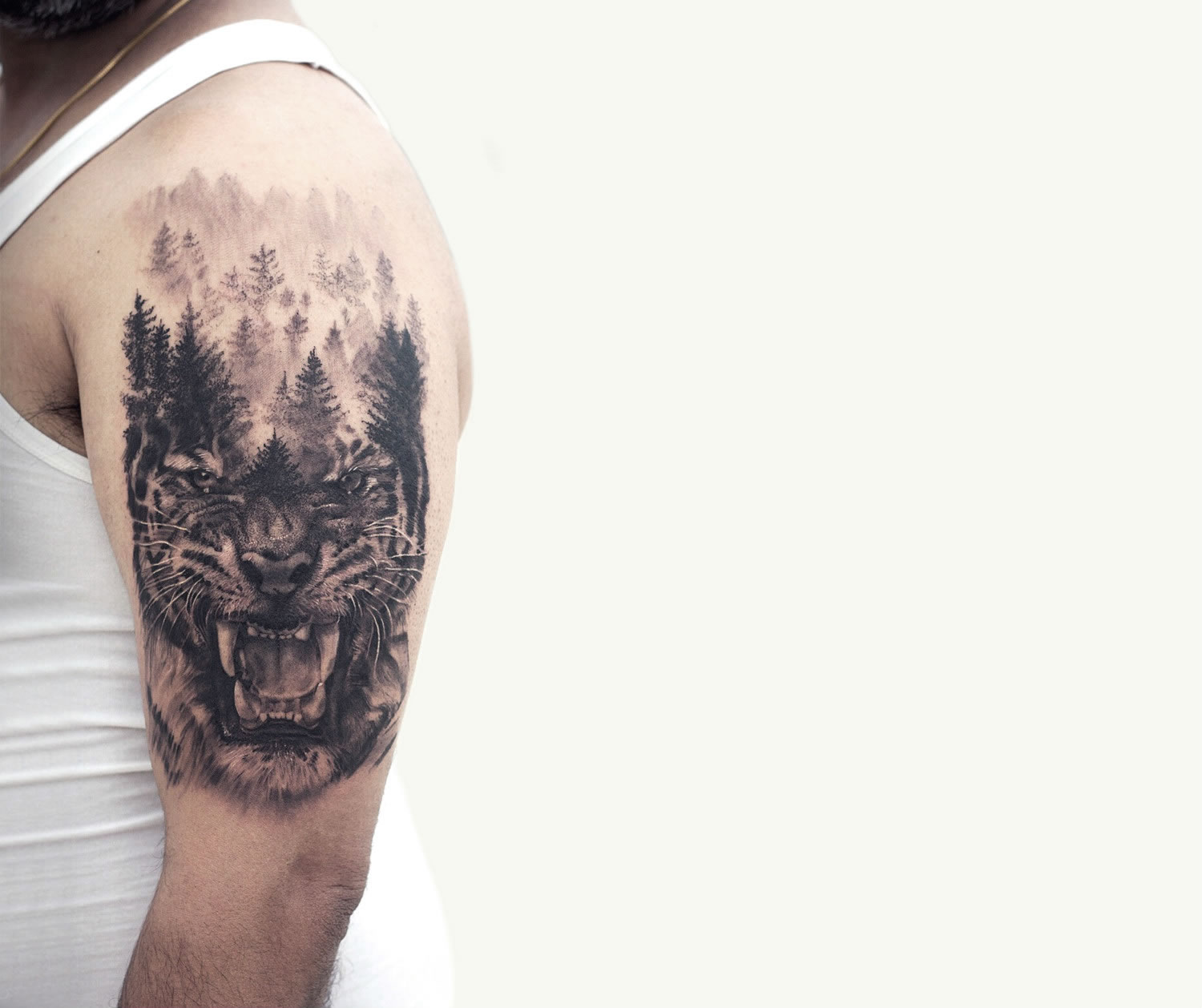 Sunny Bhanushali double exposure tattoo