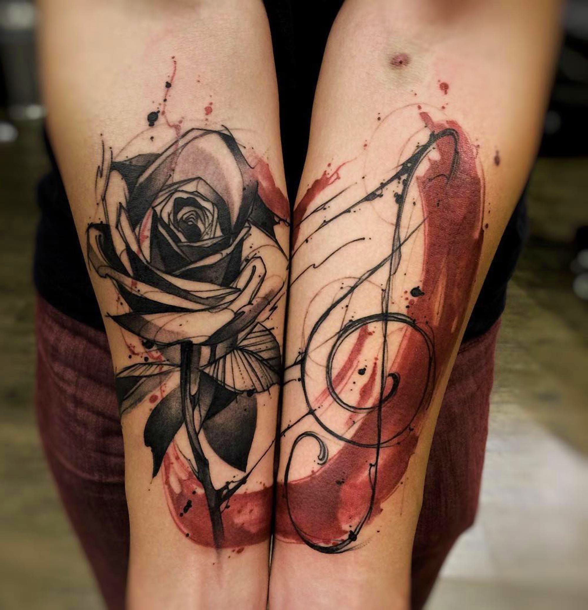 Rose tattoo by Felipe Rodrigues