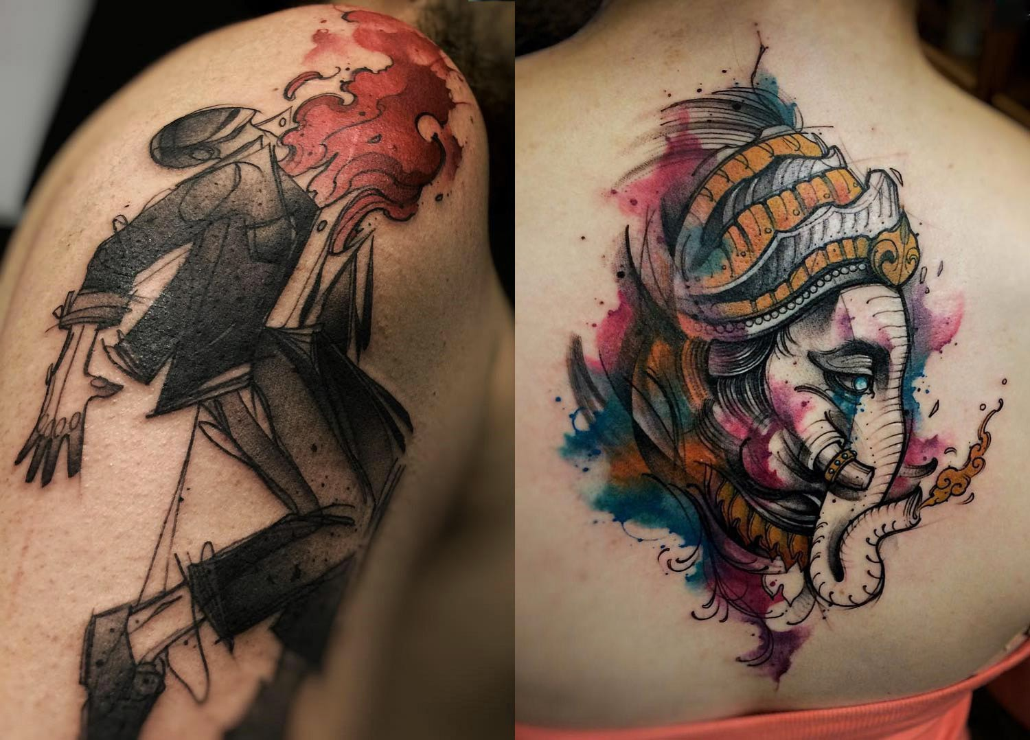 Tattoos by Felipe Rodrigues