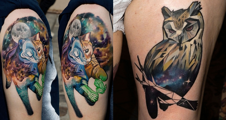 owl tattoo by Halasz Matayas
