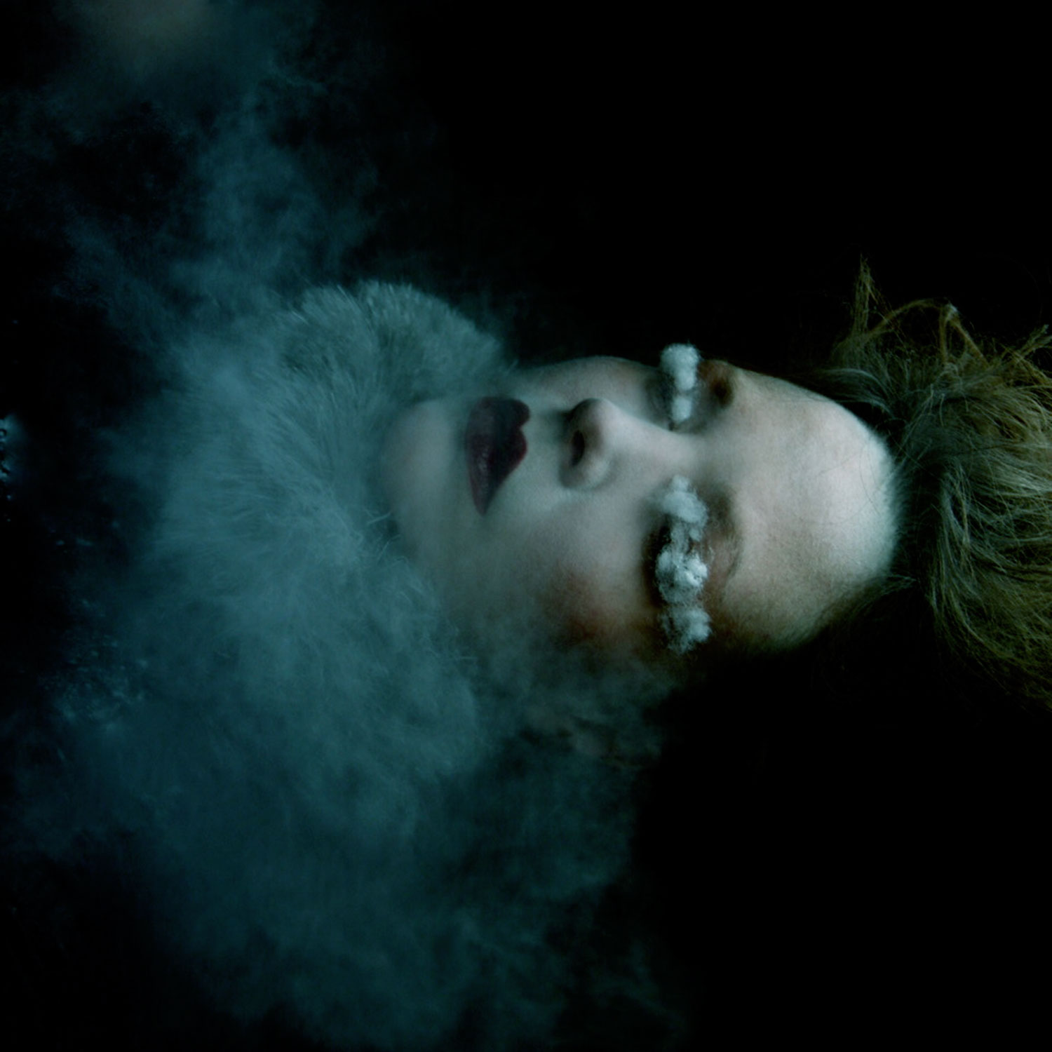 Helen Warner, Farewell Ice Queen - sleeping woman shrouded with smoke