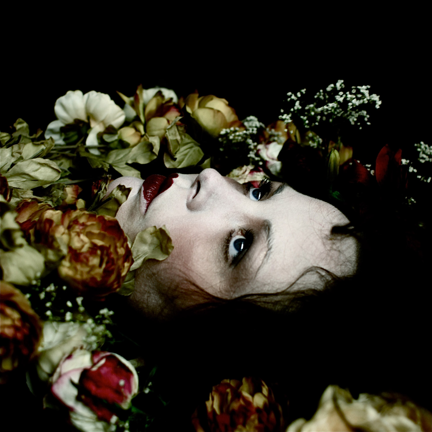 Helen Warner, Love's Last Gift - woman's face surrounded by flowers