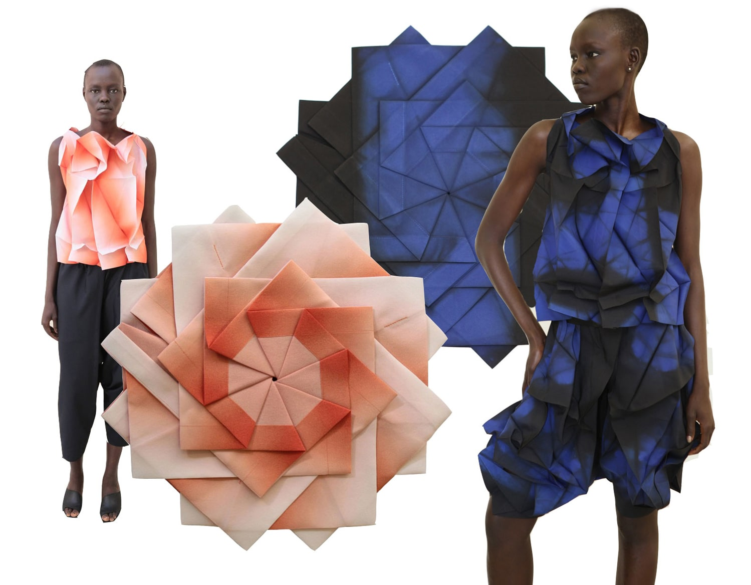 cloth that can be folded into flat geometric shapes by 132 5. ISSEY MIYAKE
