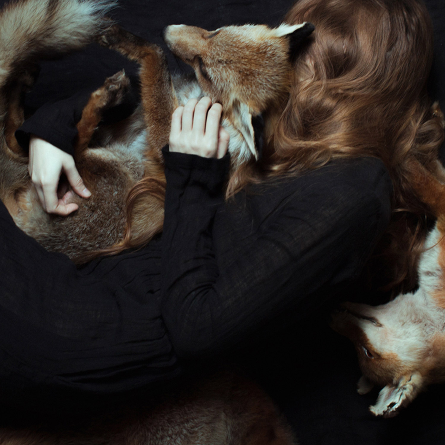 Laura Makabresku, Foxy Cradle - woman embracing fox