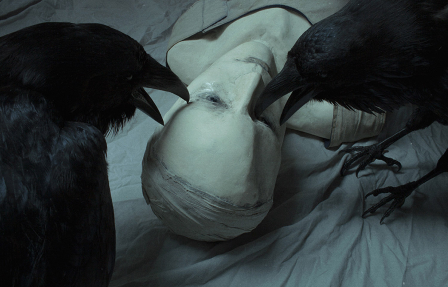 Laura Makabresku, Sara - Ravens picking at plastered face