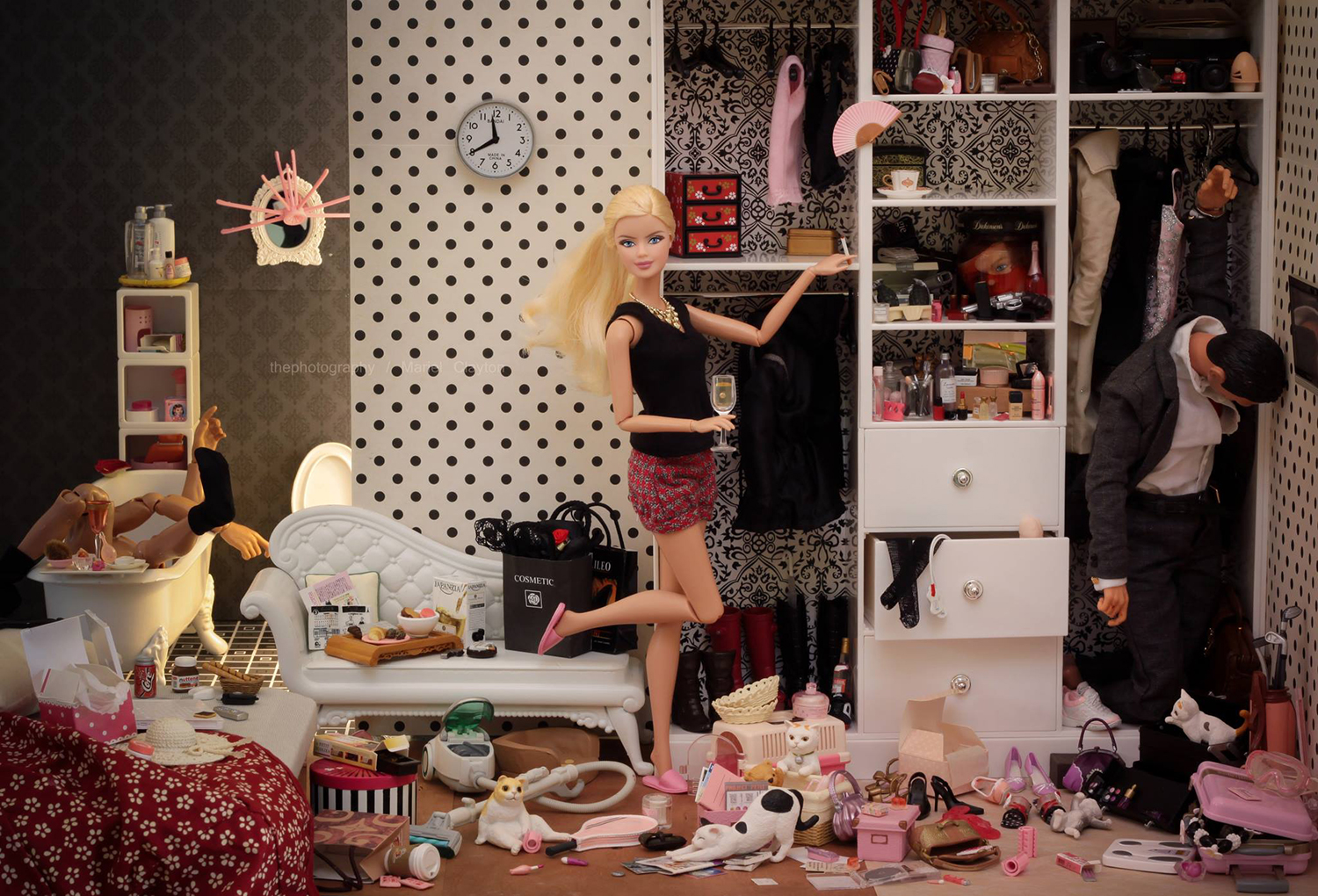 Mariel Clayton - doll in bedroom with bodies