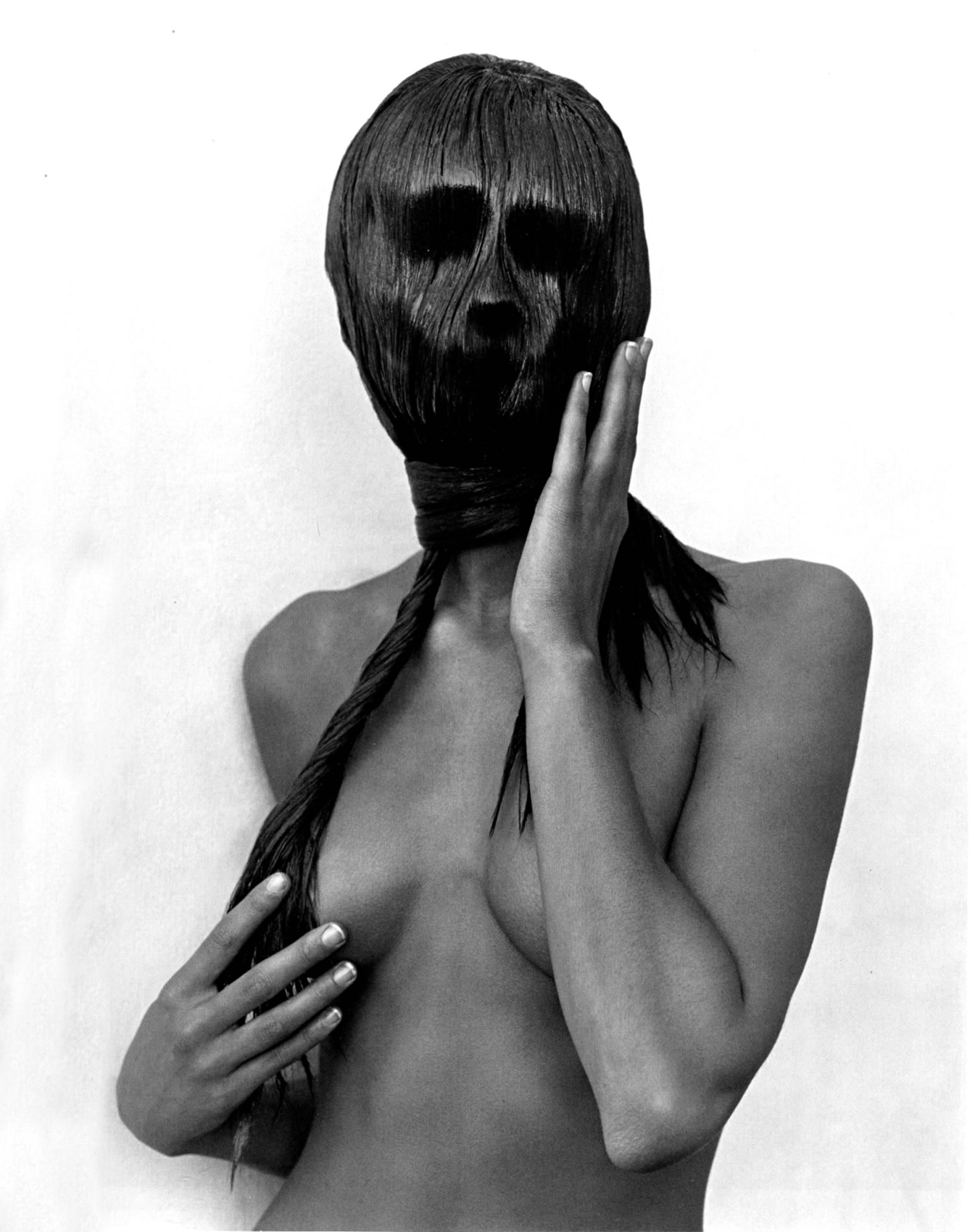 woman with mask, photo by herb ritts