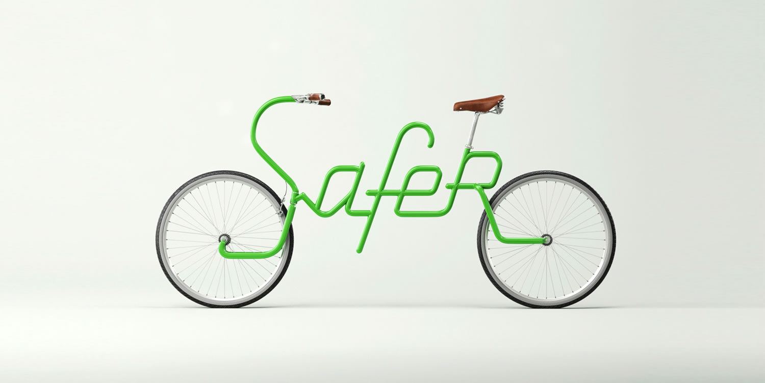 bike lettering by Alex Trochut