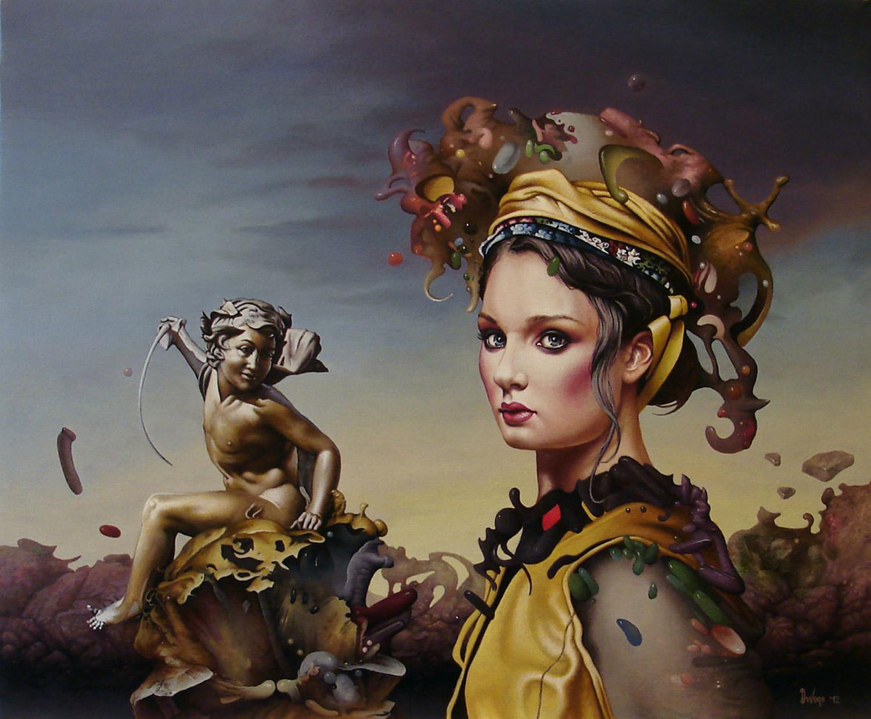Dragan Ilic Di Vogo, painting - Katarina