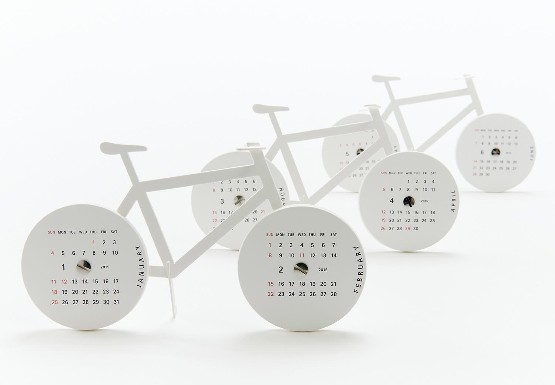 """""""Bike"""" Calendar by Katsumi Tamura, paper bike calendar"""