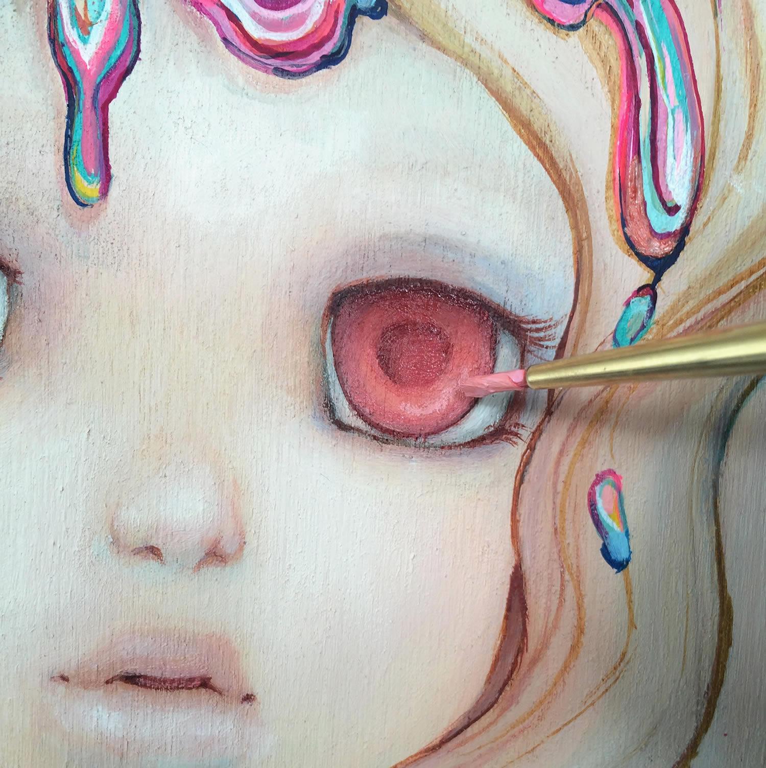 closeup of painting