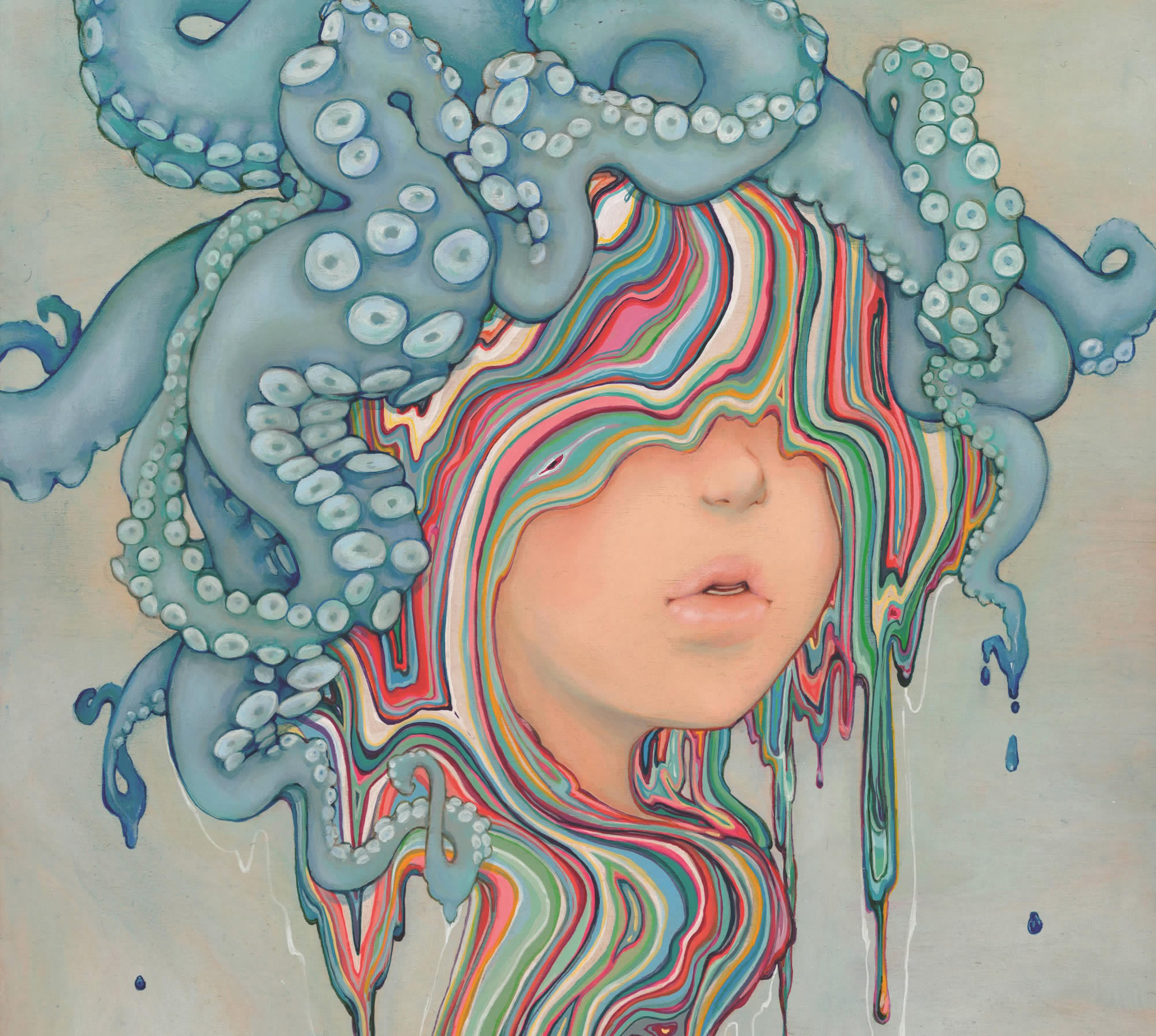 Soulful-Eyed Girls that Melt Rainbows by Camilla d'Errico