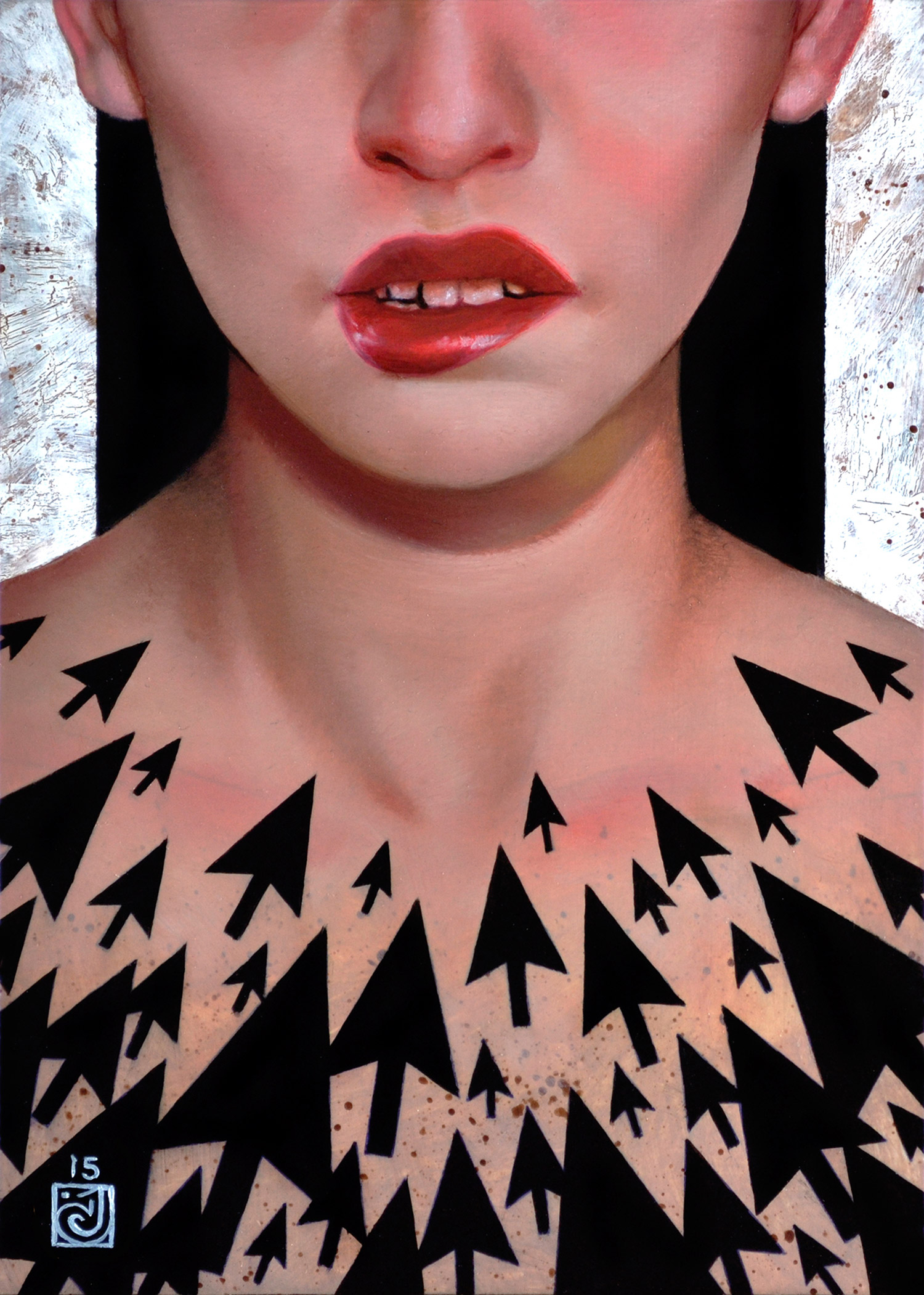 Carly Janine Mazur, Unattainable - oil and acrylic