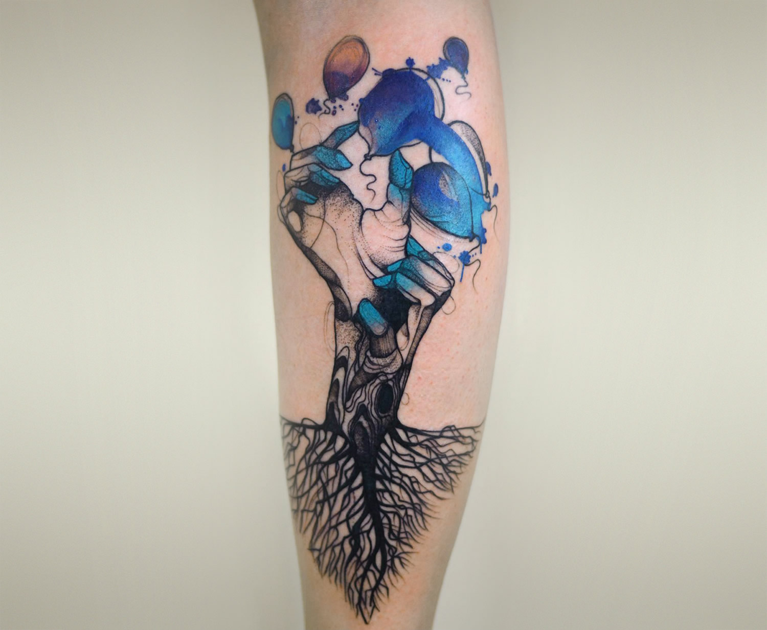Joanna Swirska dzolama tattoo artist watercolor tattoo