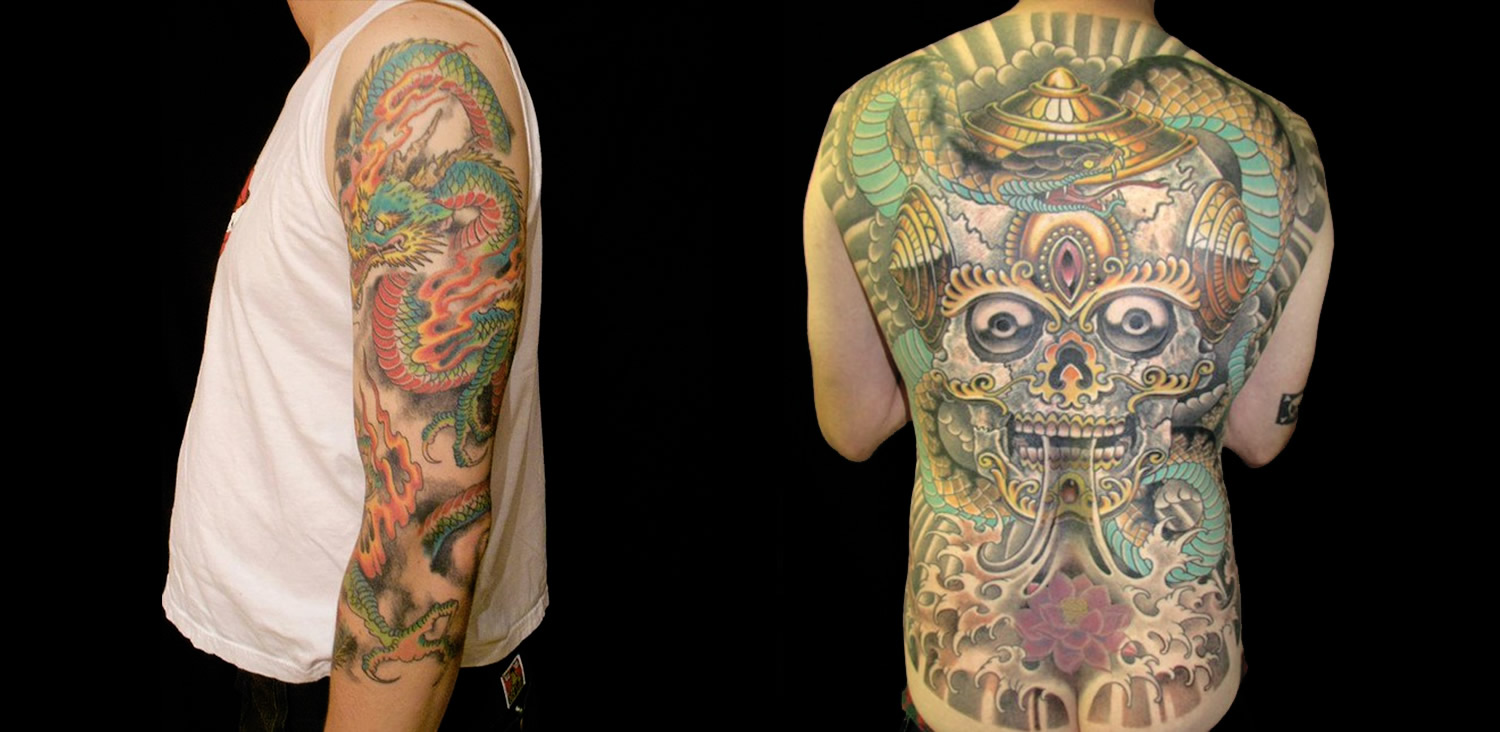 east asian tattoos by Mike Davis