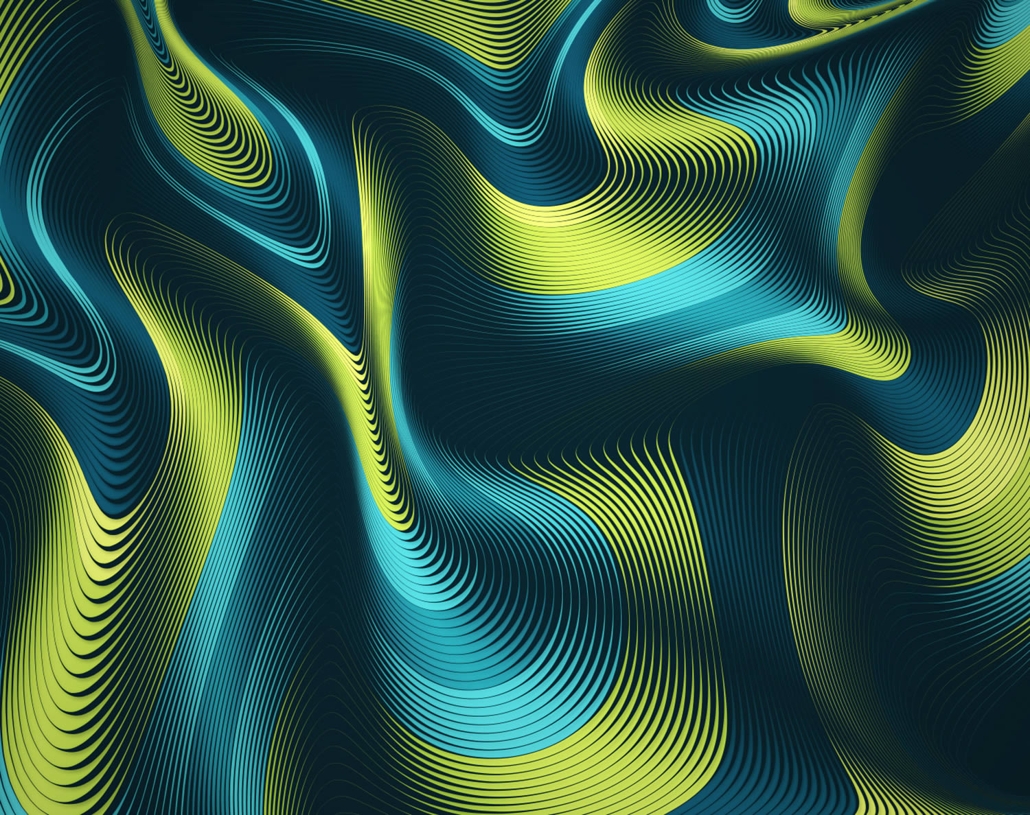 green waves, vector art