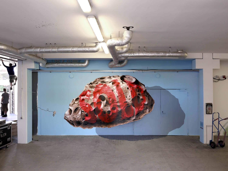 meteorite, 3d graffiti