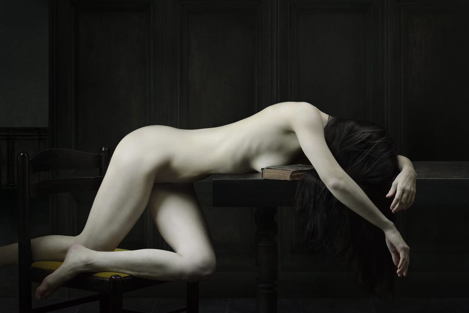woman, drifting series, photography by Olivier Valsecchi