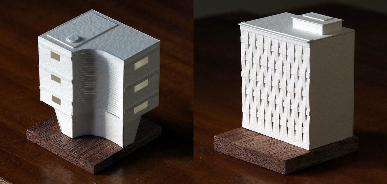 Paper buildings by Paperholm