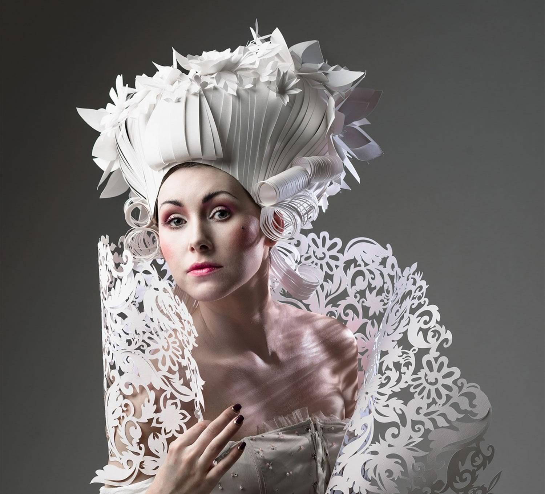 baroque paper wig by Asya Konzina