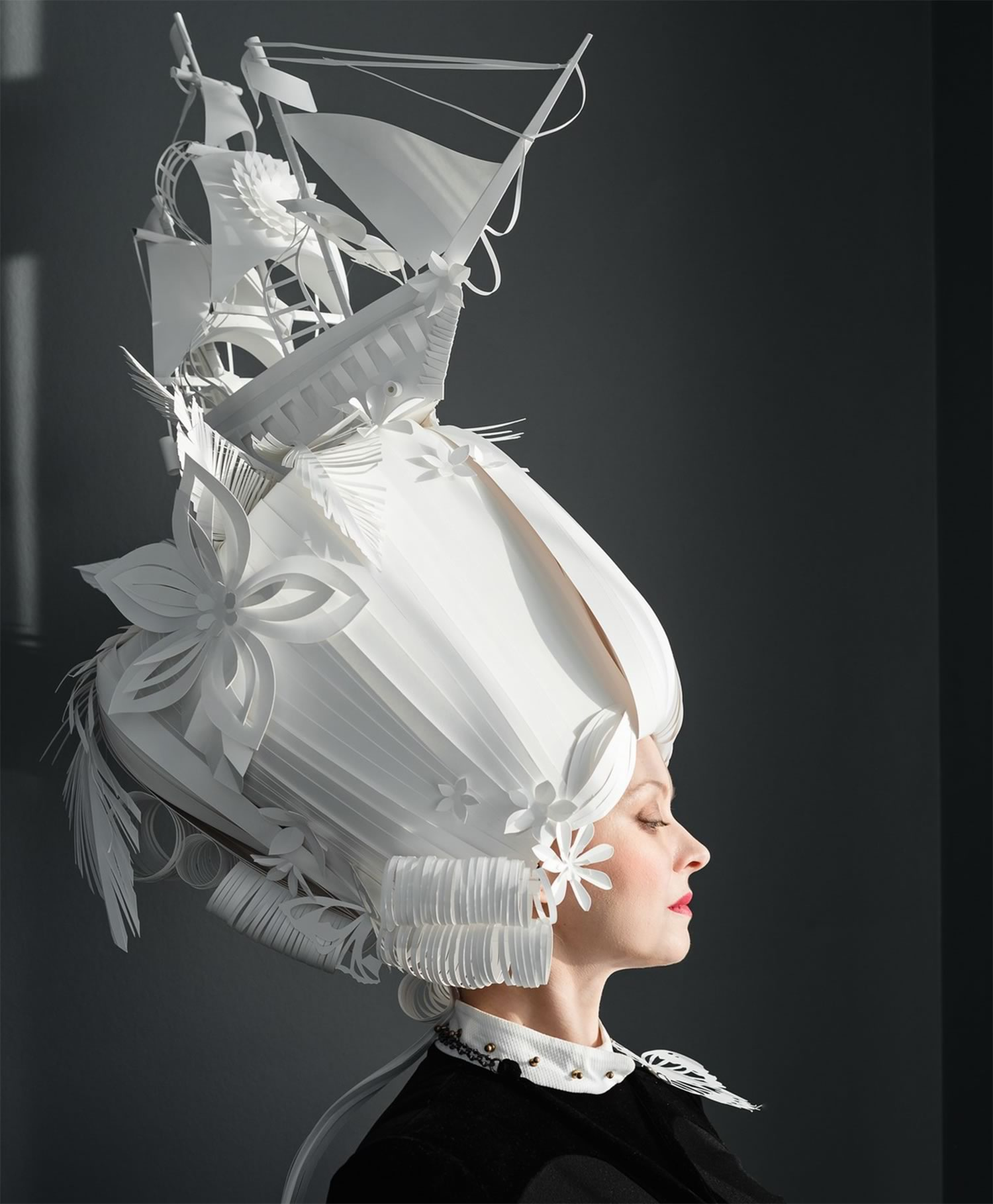 paper wig by Asya Konzina