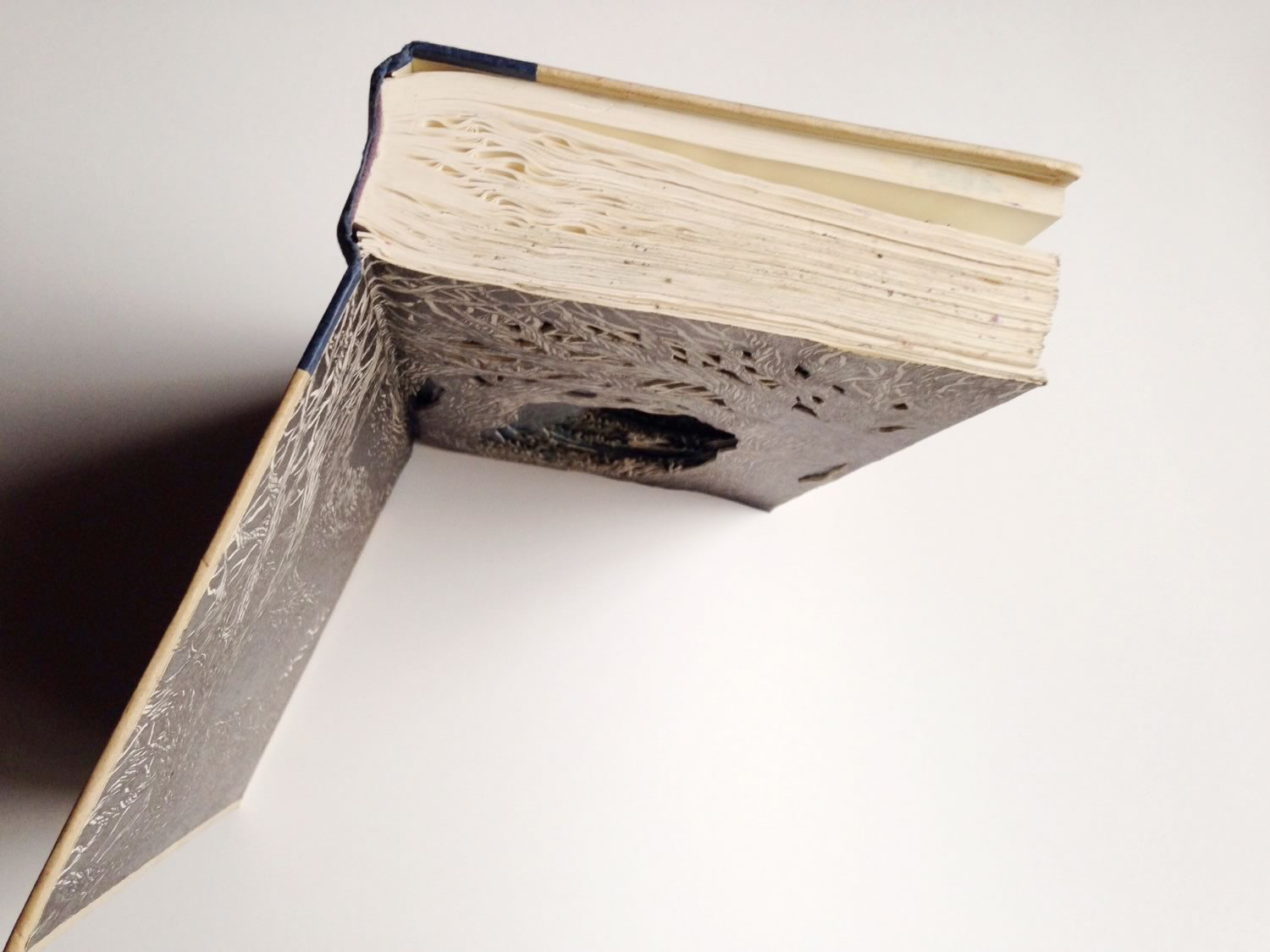 top view of altered book by Isobelle Ouzman