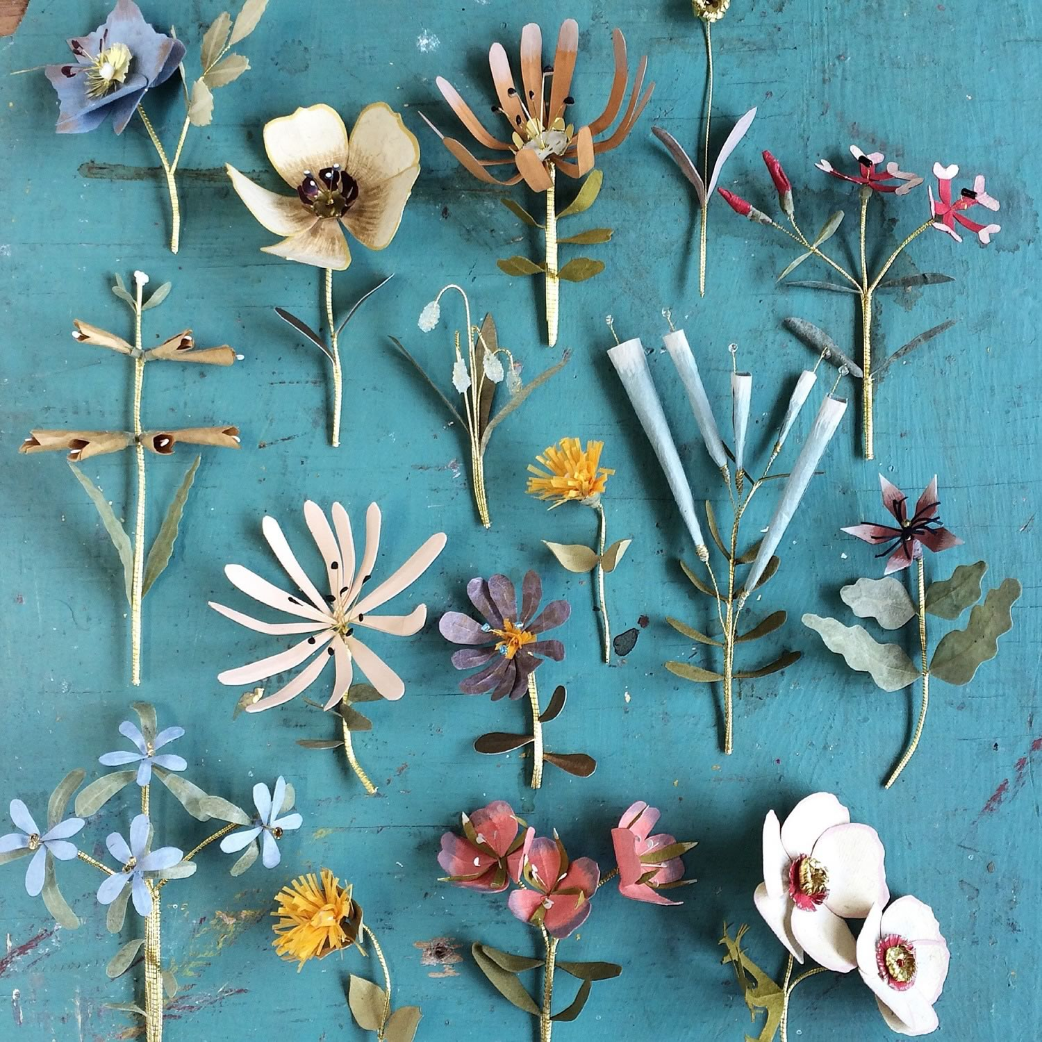 flowers made from paper by woodlucker