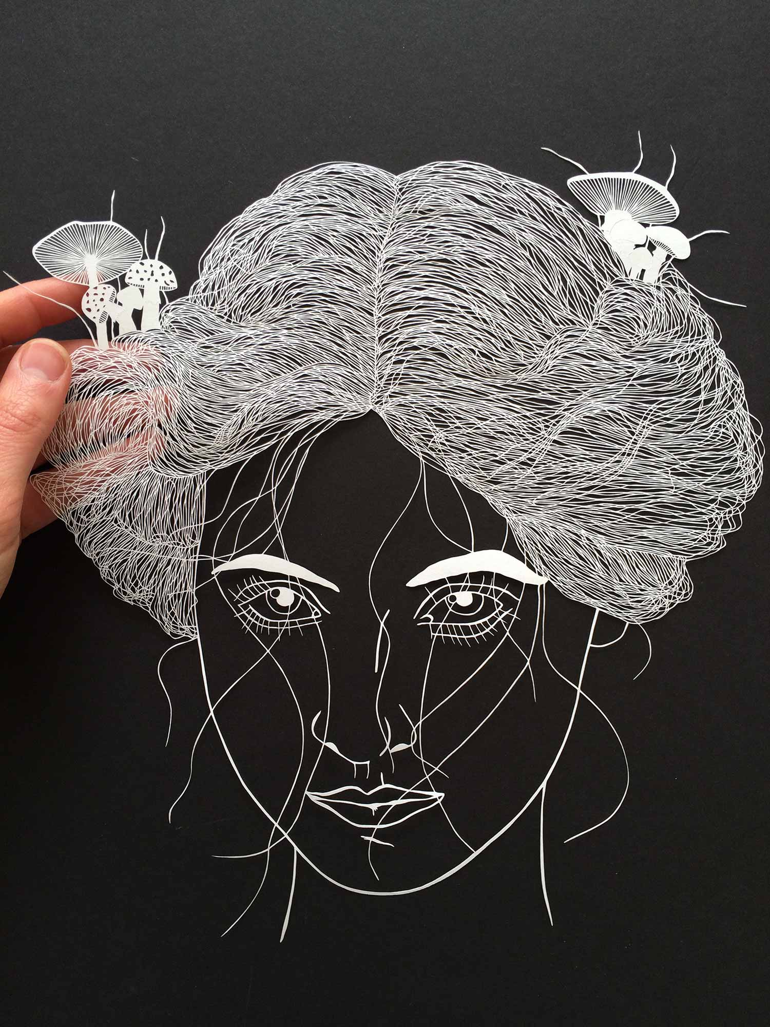 Cut paper by Maude White