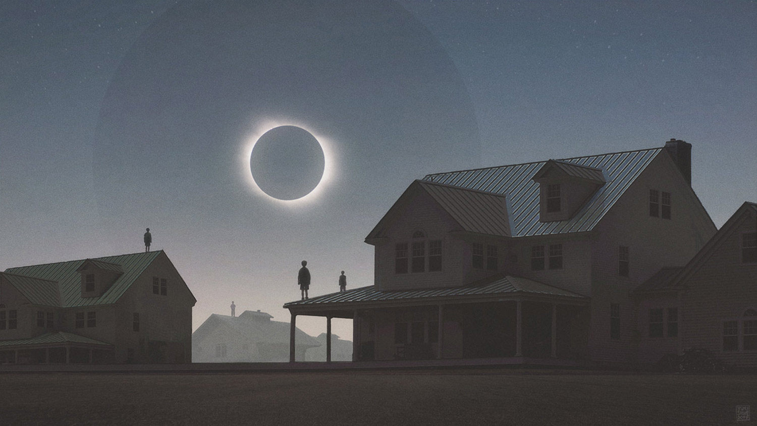 Yuri Shwedoff, Solar Eclipse - eclipse over apocalyptic town