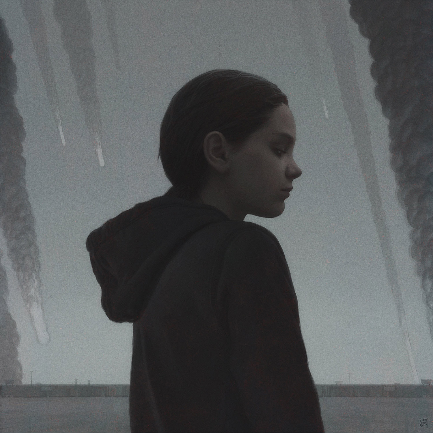 Yuri Shwedoff, Shooting Stars - young girl with falling missiles