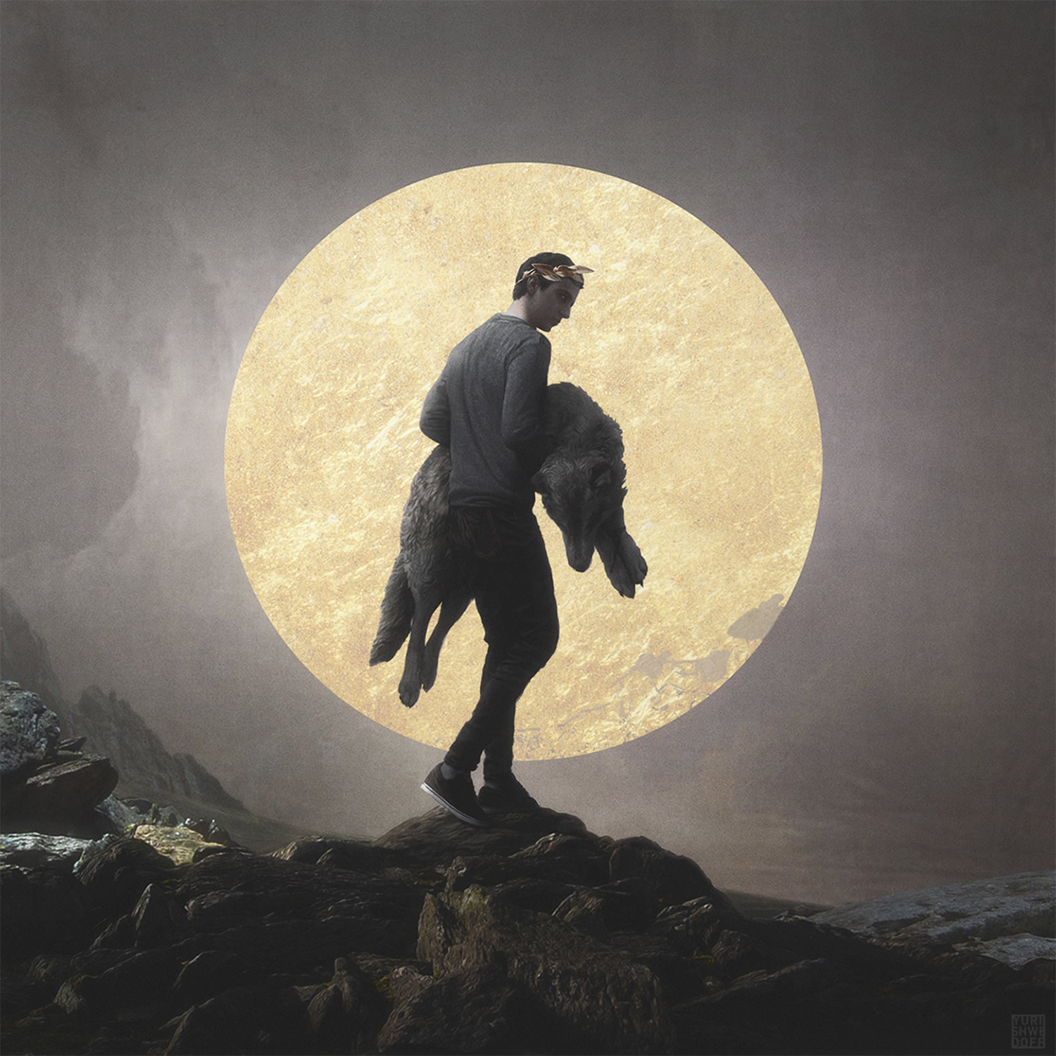 Yuri Shwedoff, Volk - man carrying wolf