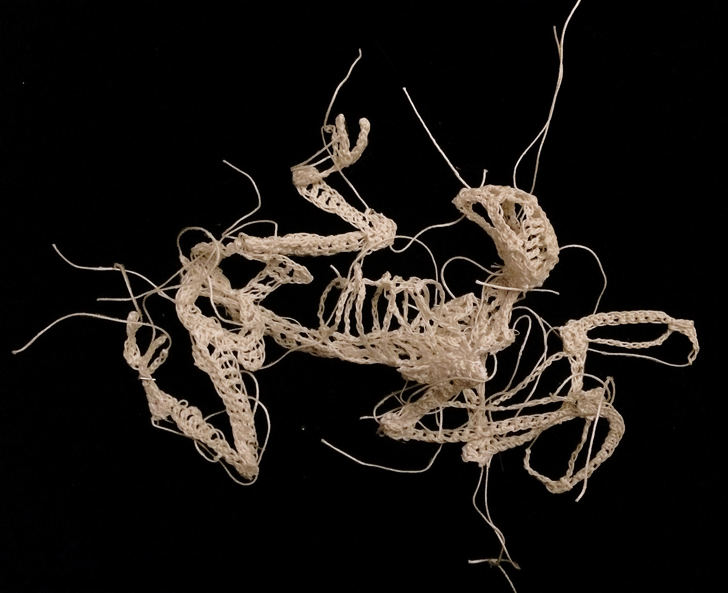 Caitlin McCormack - twisted crocheted animal skeleton