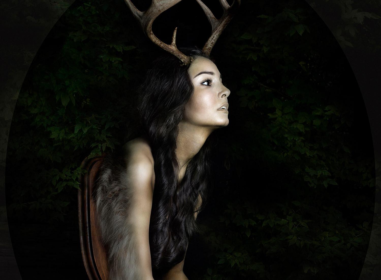 Alice Zilberberg - woman deer on plaque