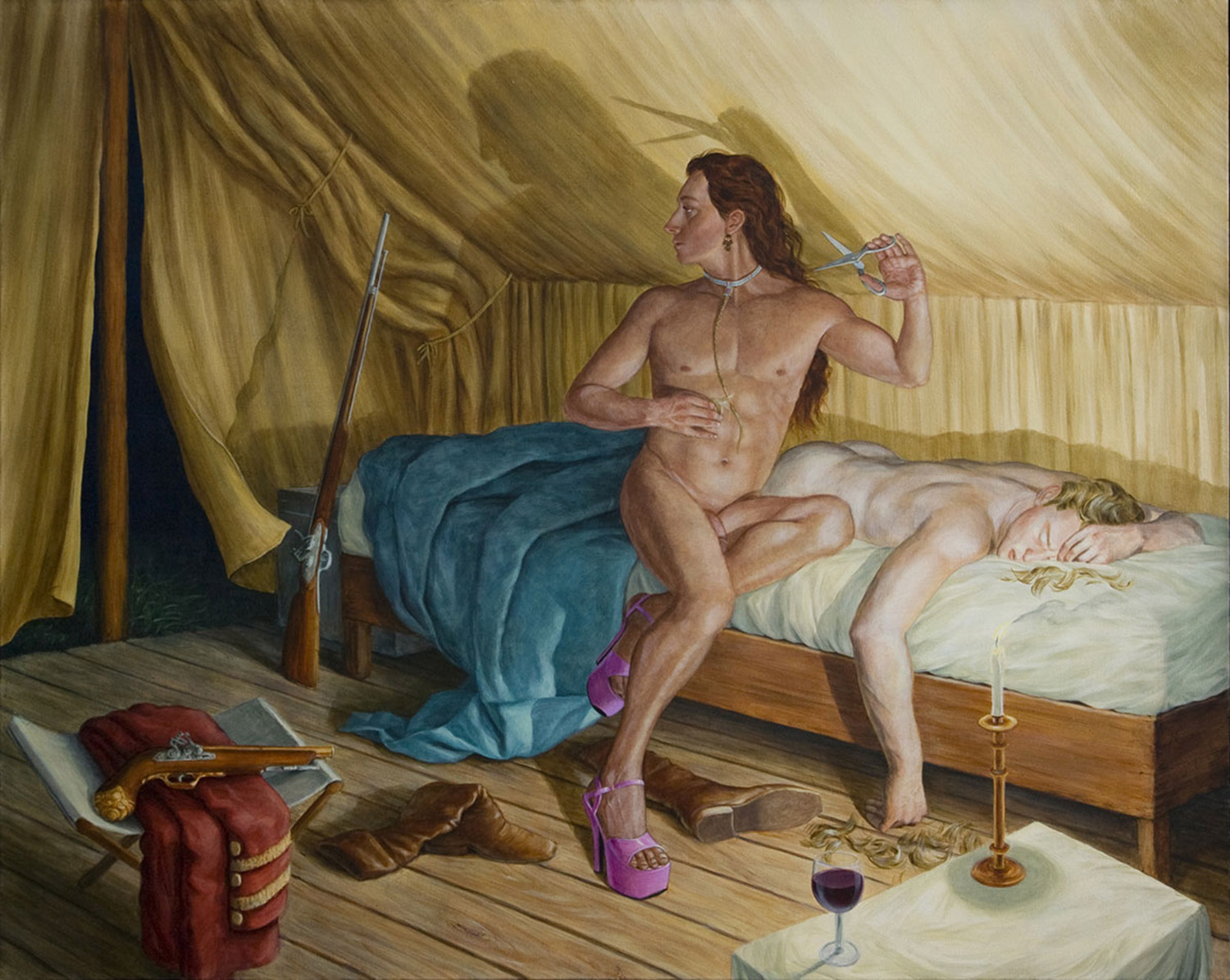 Kent Monkman - historic drag painting