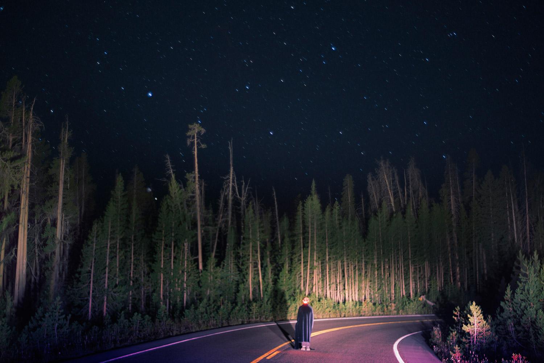 Lunakhods - fIgure standing on nighttime highway