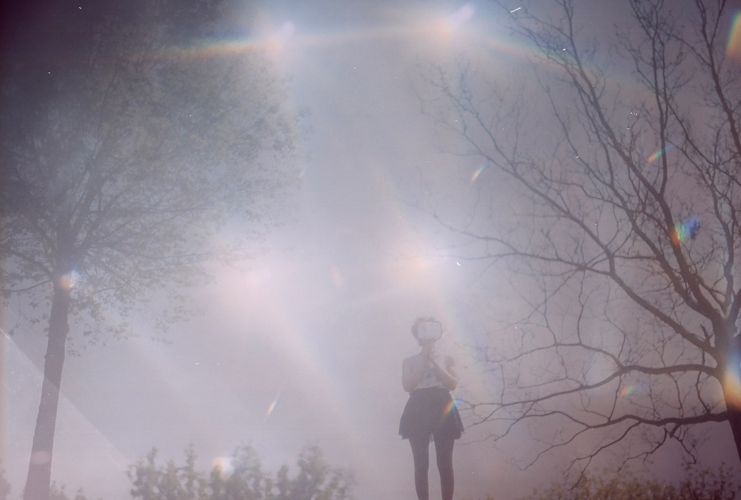 Lunakhods - figure in Toronto, Canada with glowing, hazy lights