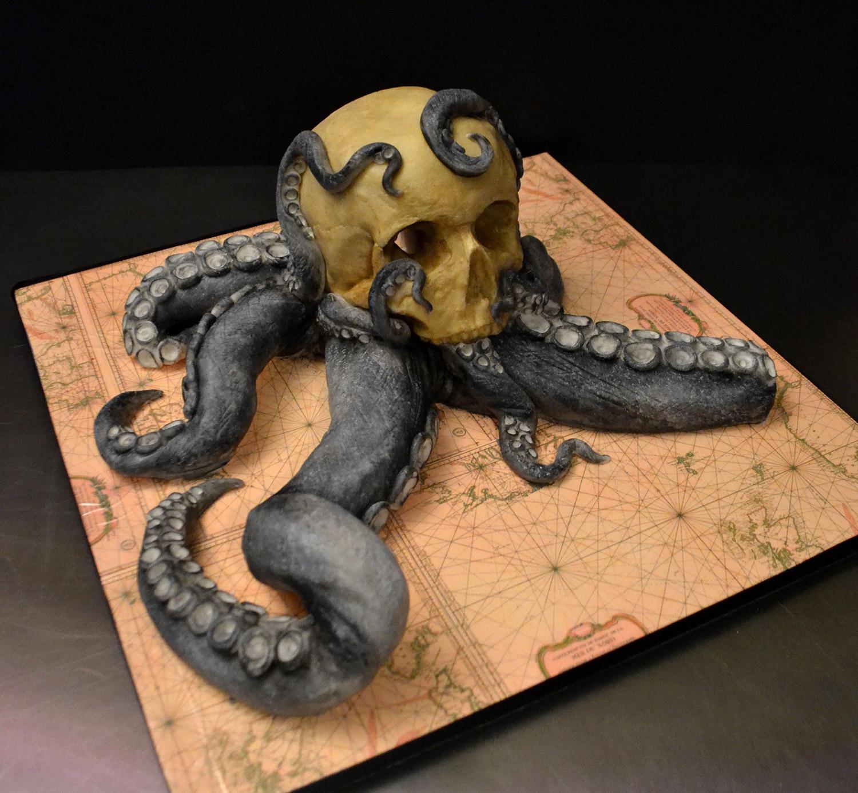 Annabel de Vetten, Conjurer's Kitchen - Tentacle skull cake