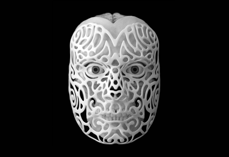 3d printing, skull mask by joshua harker