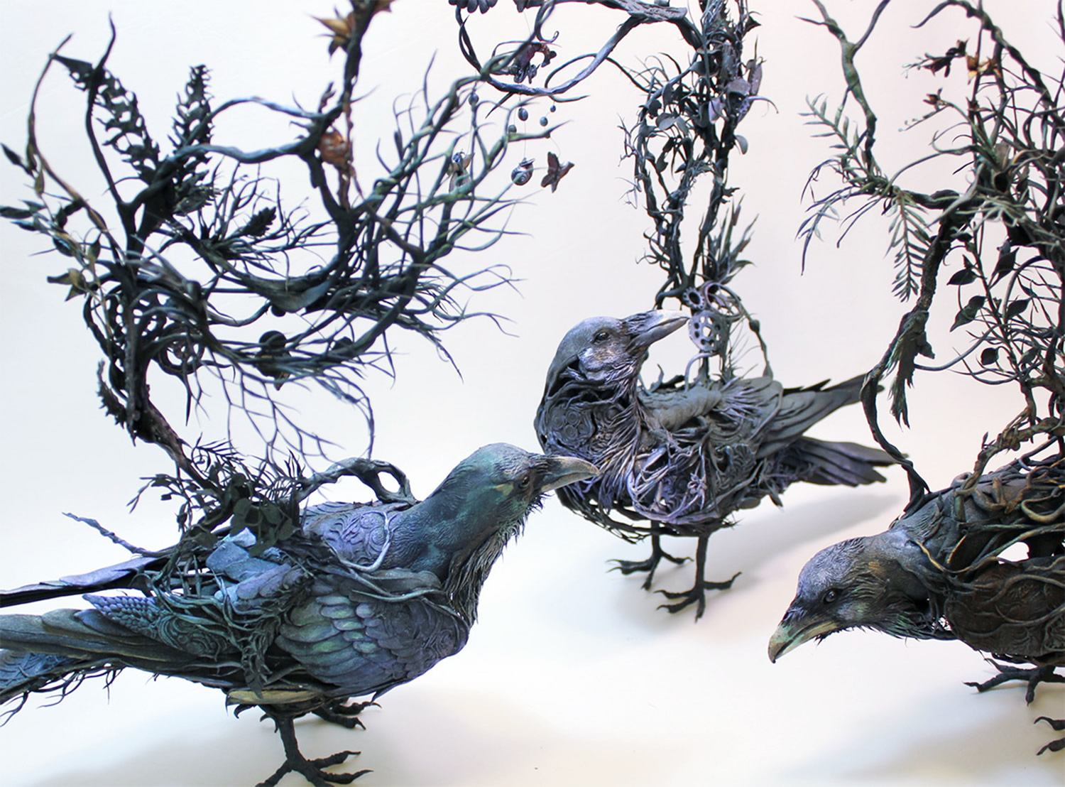 birds sculptures by ellen jewett