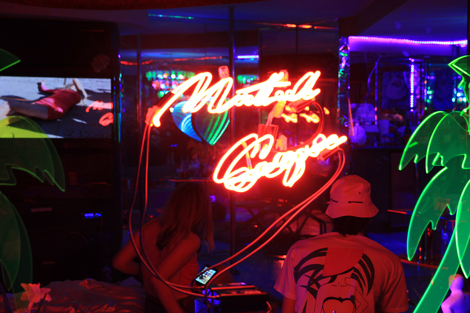 Marina Fini and Signe Pierce, Motelscape - motel neon sign